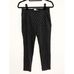 'a new day' Polka Dot Stretch Ankle Pants